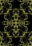 无缝巴洛克式的黑色的金子 图库摄影