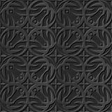 无缝3D典雅黑暗纸艺术样式211圆的发怒万花筒 免版税库存照片