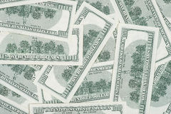 无缝100's美国货币 免版税库存图片