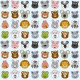 无缝2个动物的模式 库存图片