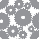 无缝2个背景的齿轮 向量例证