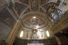 无肢大教堂内部意大利terni翁布里亚 库存照片