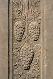 无背长椅大理石雕刻的艺术细节 免版税图库摄影