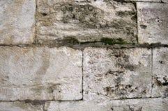 从无背长椅期间的古老土耳其米黄斯通沃尔背景的 库存照片