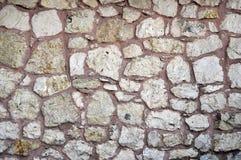 从无背长椅期间的古老土耳其米黄斯通沃尔背景的 免版税库存图片