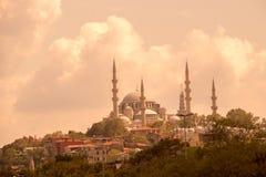 无背长椅样式清真寺在伊斯坦布尔 库存图片