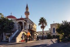 无背长椅清真寺Kos希腊 免版税库存图片