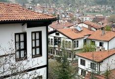 无背长椅建筑学/Beypazari家 免版税库存照片
