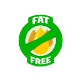 无脂肪平的颜色徽章 健康生活象 图库摄影