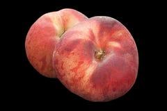 无花果在黑色的桃子果子 免版税库存图片