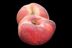 无花果在黑色的桃子果子 库存照片