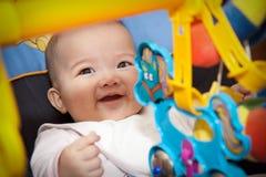 无辜的五颜六色的微笑 免版税库存图片