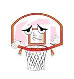 无辜的篮球篮动画片 库存照片