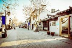无锡惠山镇街 免版税库存照片