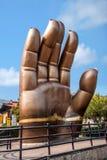 无锡灵山Dafo风景首先在世界棕榈 免版税库存照片