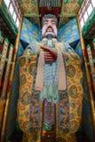 无锡Taihu鼋头渚太湖分Lingxiao宫殿玉皇大帝绘了 图库摄影