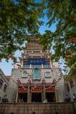 无锡Taihu鼋头渚太湖神仙的宫殿Lingxiao 免版税库存照片