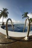 无限尼加拉瓜池游泳 免版税图库摄影