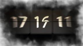 无限数字 数字迅速地改变 计数员 3d例证 免版税库存图片