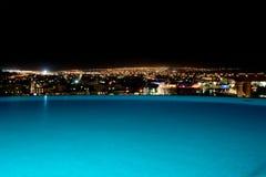 无限晚上池地平线 免版税库存图片