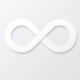 无限标志 也corel凹道例证向量 免版税库存照片