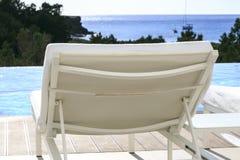 无限游泳池在福门特拉岛 免版税库存图片