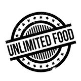 无限的食物不加考虑表赞同的人 库存照片