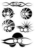 无限纹身花刺的标志被设置被隔绝的 免版税库存照片