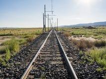 无限铁路轨道 库存照片
