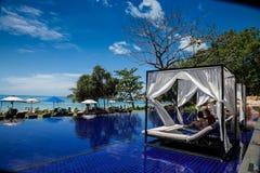 无限水池在泰国 免版税库存图片