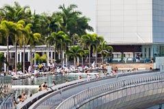 无限水池,新加坡 图库摄影