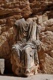 无首的雕象,杜加,突尼斯 免版税图库摄影