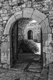 无头甘蓝堡垒的拱道在Lerapetra 免版税图库摄影