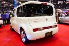 日产求在泰国国际马达商展的汽车的立方 免版税库存照片