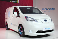 日产E-NV200电概念 免版税库存图片