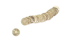 500日元硬币 库存图片