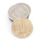 日元硬币 库存照片
