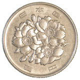 100日元硬币 库存图片