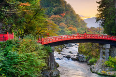 日光,日本桥梁 免版税库存图片