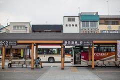 日光,日本- 6月18 :在日光旅游讯息铈前面 图库摄影