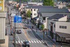 日光,日本- 6月18 :在日光旅游讯息铈前面 库存图片