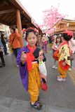 日光,日本- 4月16 :日光的人们庆祝弥生festiva 库存照片