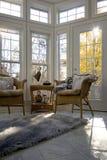 日光浴室在树荫下苍白 免版税库存照片
