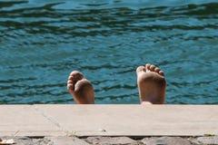 日光浴者在巴黎 免版税库存照片