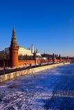 日克里姆林宫莫斯科俄国冬天 库存照片