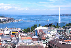 日内瓦和Leman湖 库存照片