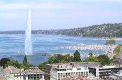 日内瓦和Leman湖 库存图片