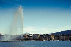 日内瓦喷气机水 库存图片