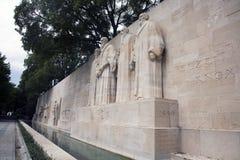 日内瓦改革墙壁 库存图片