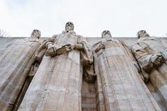 日内瓦改革墙壁 免版税库存照片